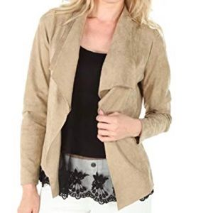 Karen Kane Draped Faux-Suede Jacket Size L